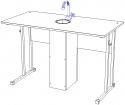 Стол ученический лабораторный для кабинета химии 6 гр.р.