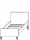 Кровать односпальная на металлокаркасе