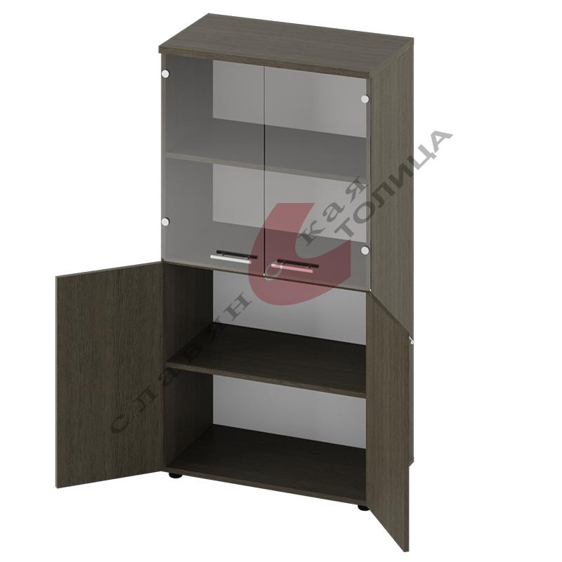 Офисный шкаф для документов (со стеклом) Б-8.1540.1