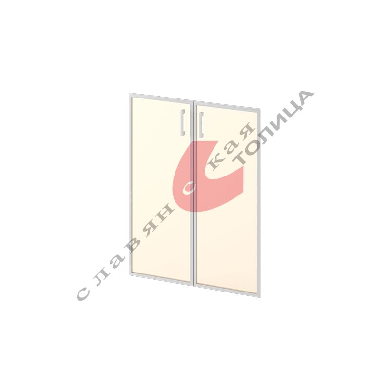 Двери стеклянные в алюминиевой рамке М-С-9.1094
