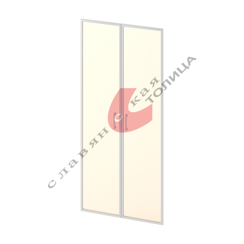 Двери стеклянные в алюминиевой рамке М-С-9.1834