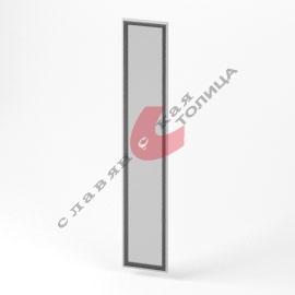 Дверь стеклянная в алюминиевой рамке О-ФС-2135