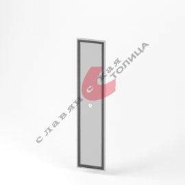 Дверь стеклянная в алюминиевой рамке О-ФС-1775