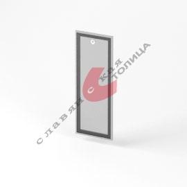 Дверь стеклянная в алюминиевой рамке О-ФС-1055