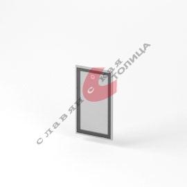 Дверь стеклянная в алюминиевой рамке О-ФС-705
