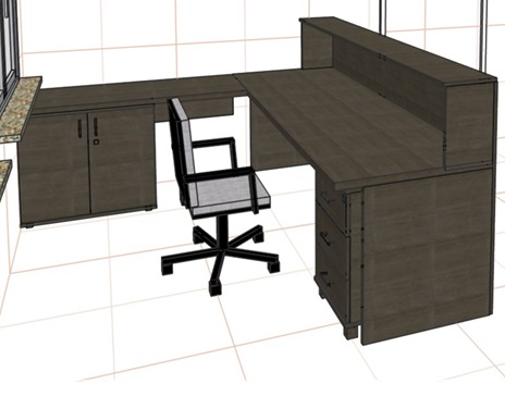 Стойка прямая, стол приставной, тумба (венге)