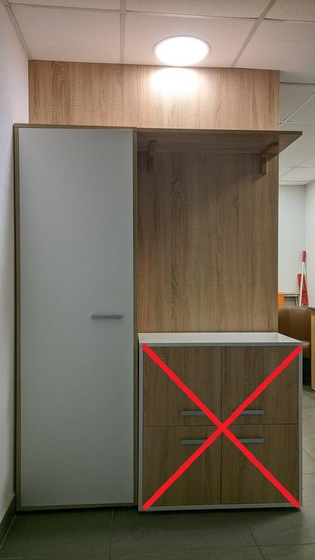 Шкаф для одежды с перегородкой